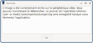 IsoDumper : message de fin