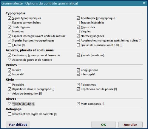 correcteur dorthographe et grammalecte gratuit français open office